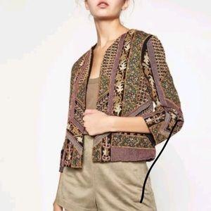 991e2de0213 Women Zara Embroidered Jacket on Poshmark